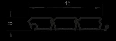 Профиль е23 в разрезе Rehau rauvolet