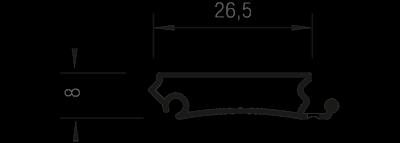 Пластиковый профиль е9 для жалюзи Рехау в разрезе