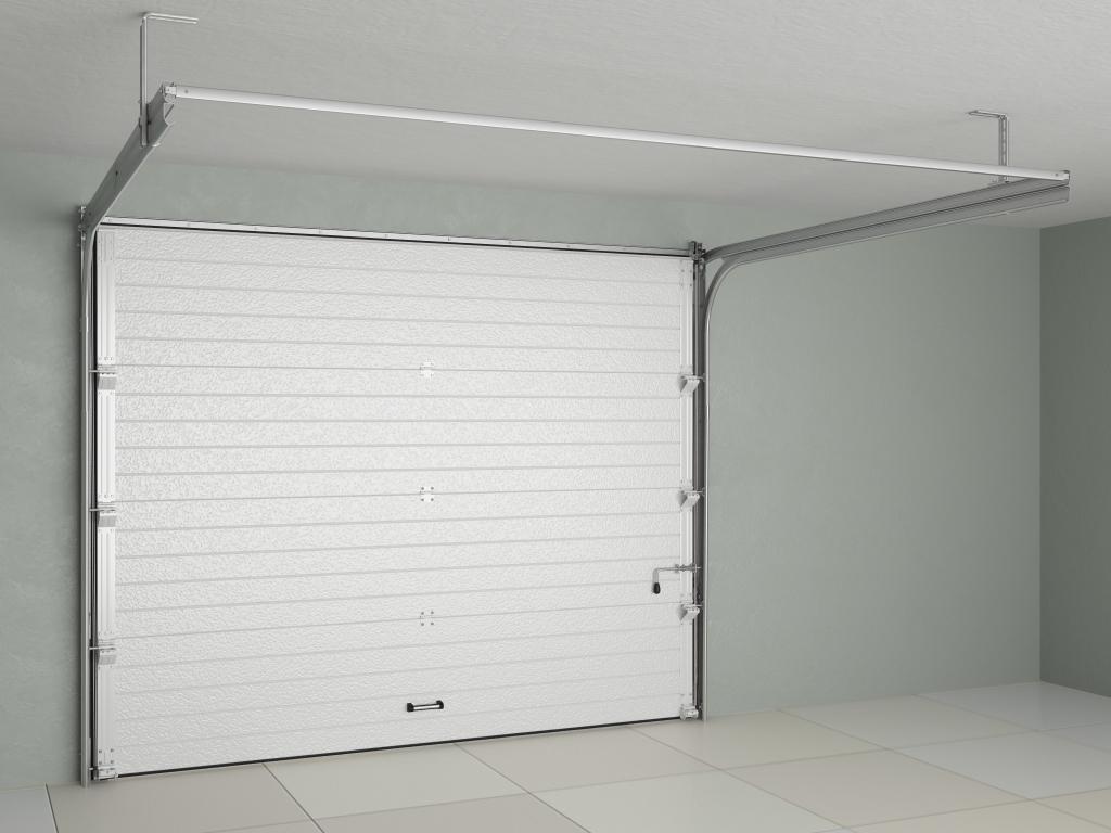 Секционные ворота с мотором AN-Motors для гаража