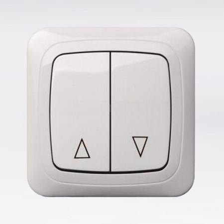 Клавишный выключатель KU/1 для рольставней