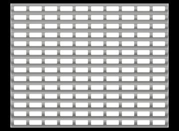 Стандартный профиль рулонных решеток Алютех