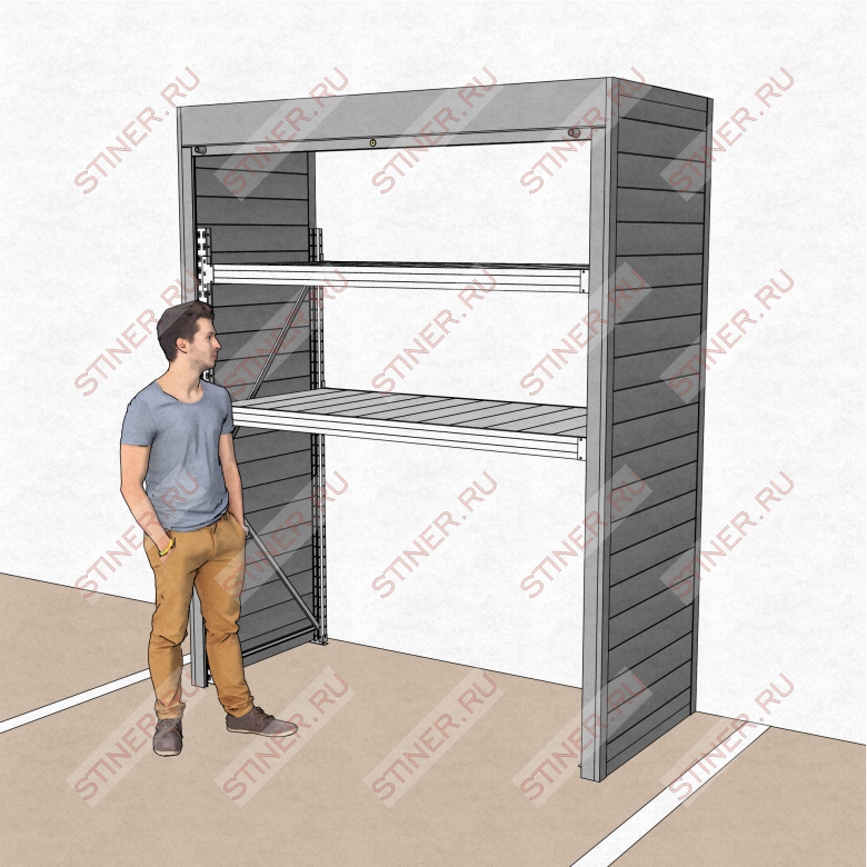Заказать шкаф для паркинга с установкой в Москве шириной 2 метра и высотой 2,5 метра