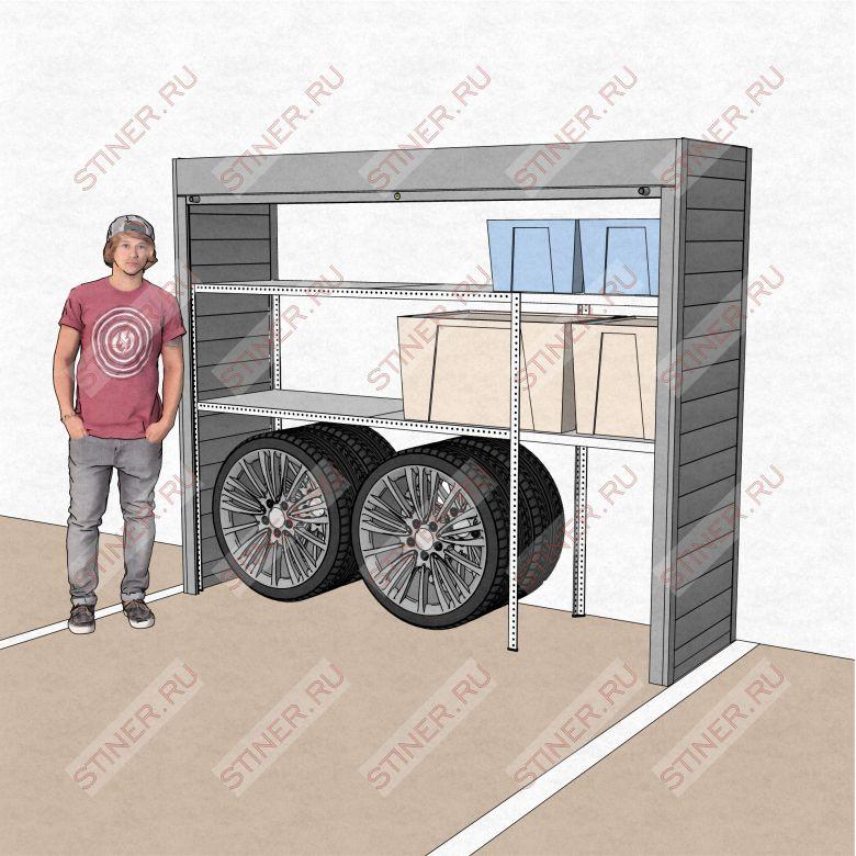 Заказать шкаф в паркинг в компании Стинер шириной 2,5 высотой 2 метра с установкой в Москве