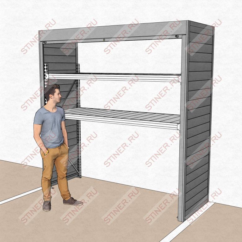 Купить роллетный шкаф для паркинга шириной 2,5 с установкой в Москве