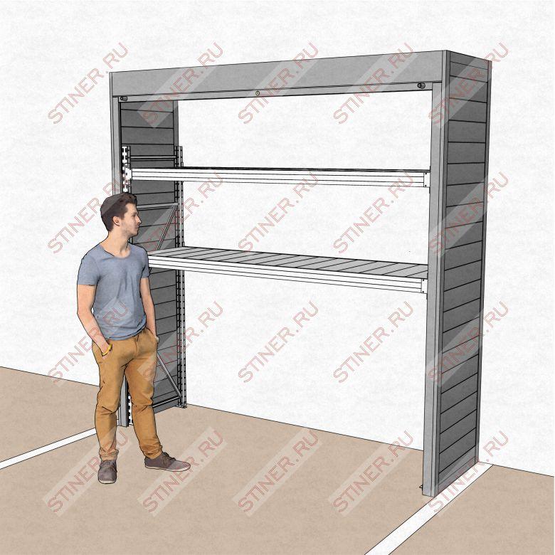 Роллетный шкаф 2500*2500*700