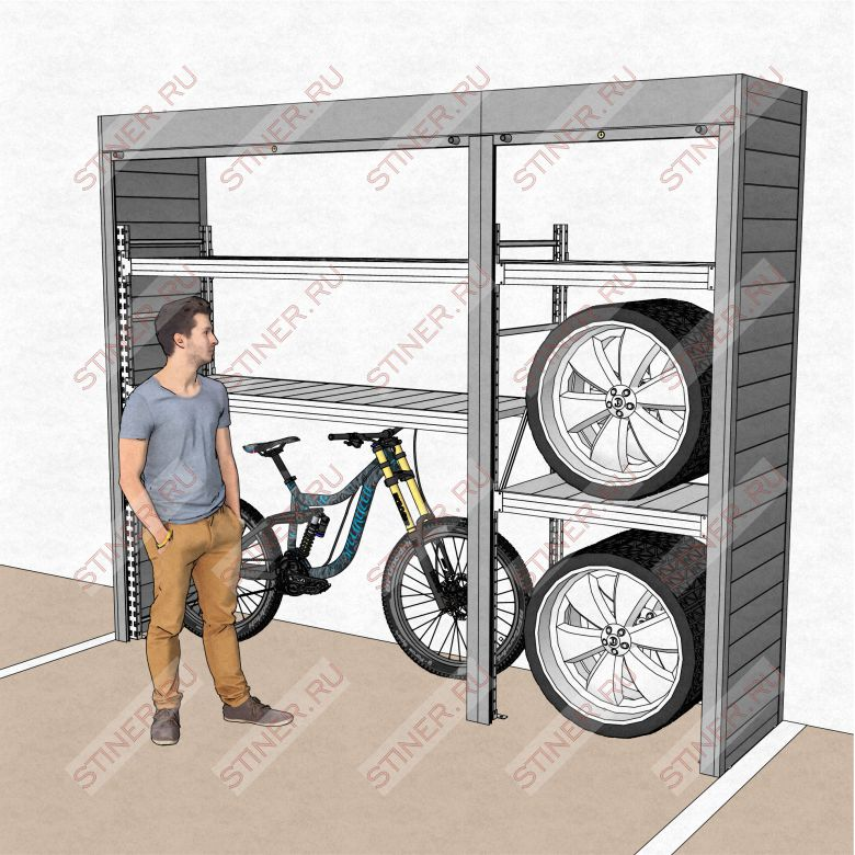 Шкаф для гаража 3100*2500*700