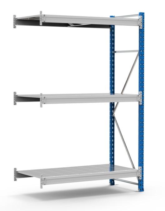 Дополнительная секция стеллажа СГР высота 2000 мм. купить доп полки к стеллажу