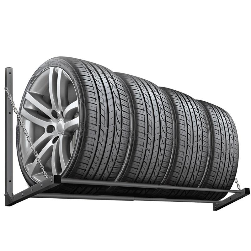 Навесной кронштейн для хранения автомобильной резины или колес на стене