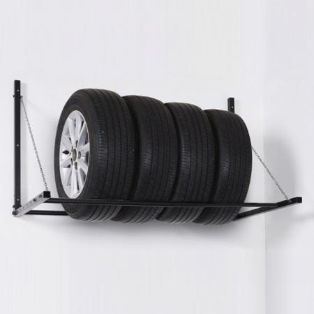 Подвесная полка для хранения колёс на стене